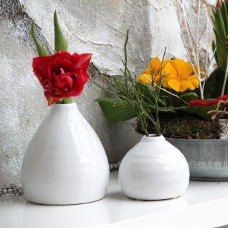 Vasen MARY & MINDY Casablanca weiß H 11 cm | 9 cm
