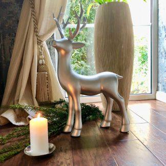Weihnachts Dekofigur Hirsch WOLFGANG H 65 cm