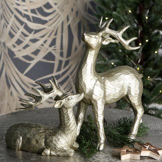 Weihnachtsdeko Hirsch-Pärchen LARS & LUCA 16,5 cm