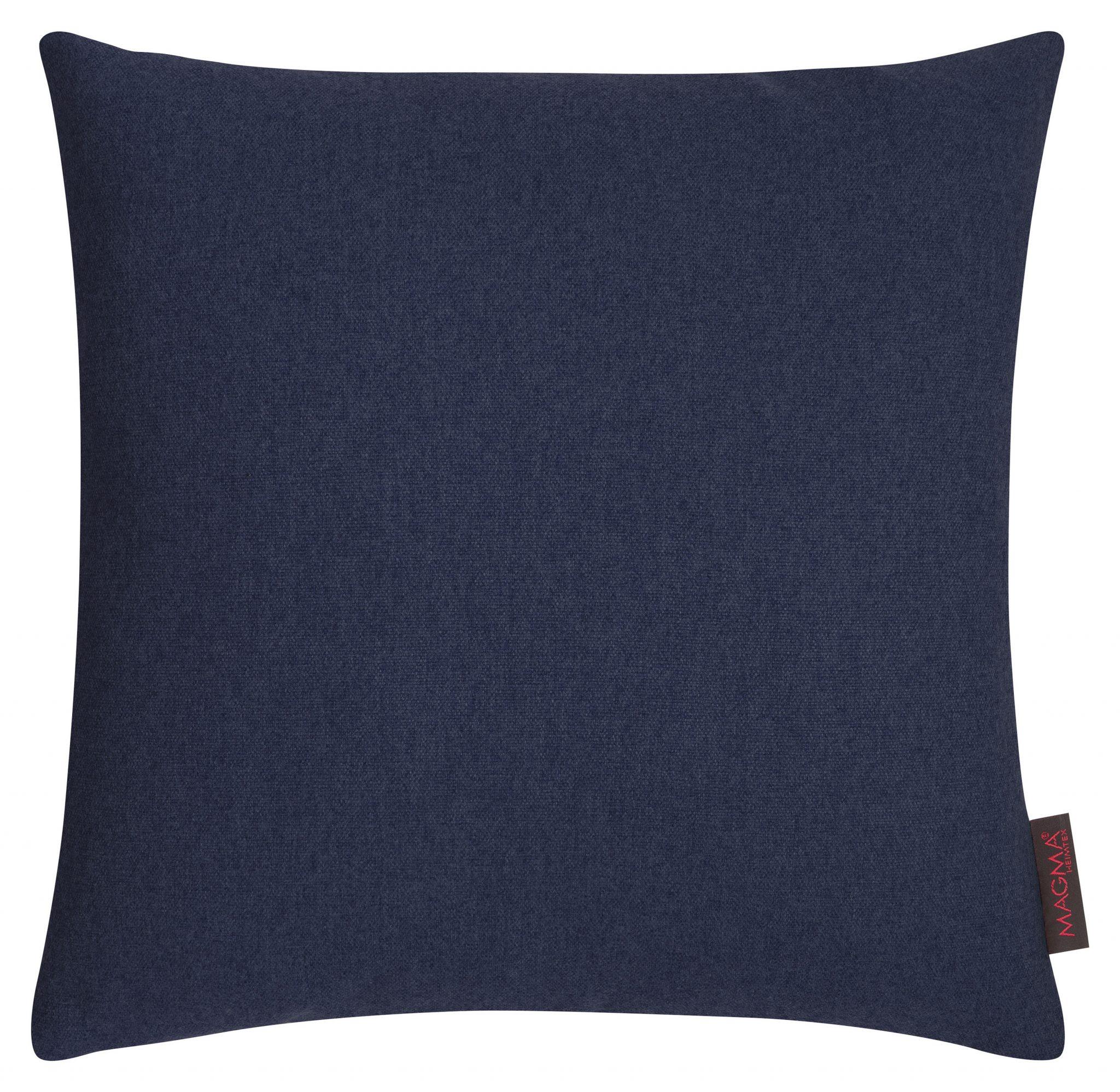 Kissen Magma FELT dunkelblau mit Federfüllung 50x50 |60x60