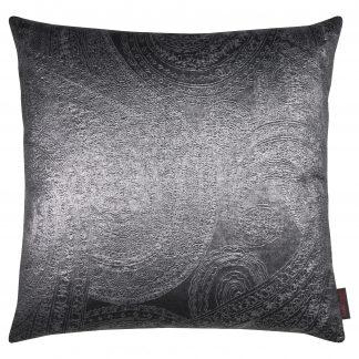 Dekokissen Magma PAISLEY anthrazit mit Federfüllung 50x50