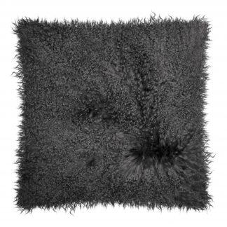 Dekokissen Magma PAMINA anthrazit 40x40 cm Echtfell