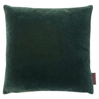 Dekokissen Magma SAMT UNI grün mit Federfüllung 40x40