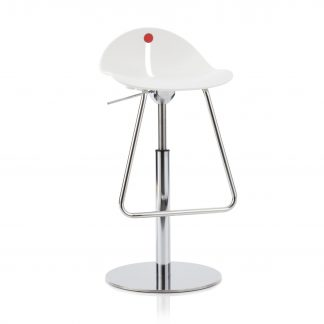 Köhl DESIRO®DOT Barhocker mit Design-Schale höhenverstellbar weiß