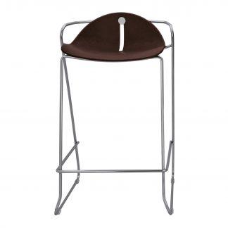 Köhl DESIRO®DOT Barhocker Design-Schale auf Kufengestell mocca
