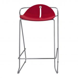 Köhl DESIRO®DOT Barhocker Design-Schale mit Kufengestell rot