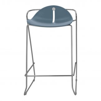 Köhl DESIRO®DOT Barhocker Design-Schale mit Kufengestell taubenblau