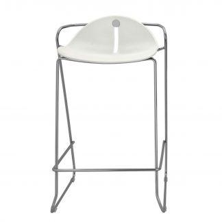 Köhl DESIRO®DOT Barhocker Design-Schale auf Kufengestell weiß