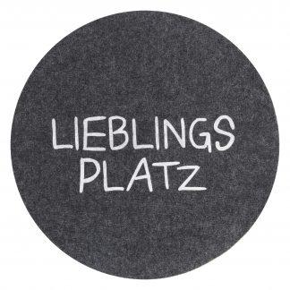 PLATZSET AVARO Lieblingsplatz Magma anthrazit ø 38 cm