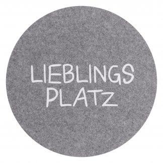 PLATZSET Avaro Lieblingsplatz Magma grau ø 38 cm