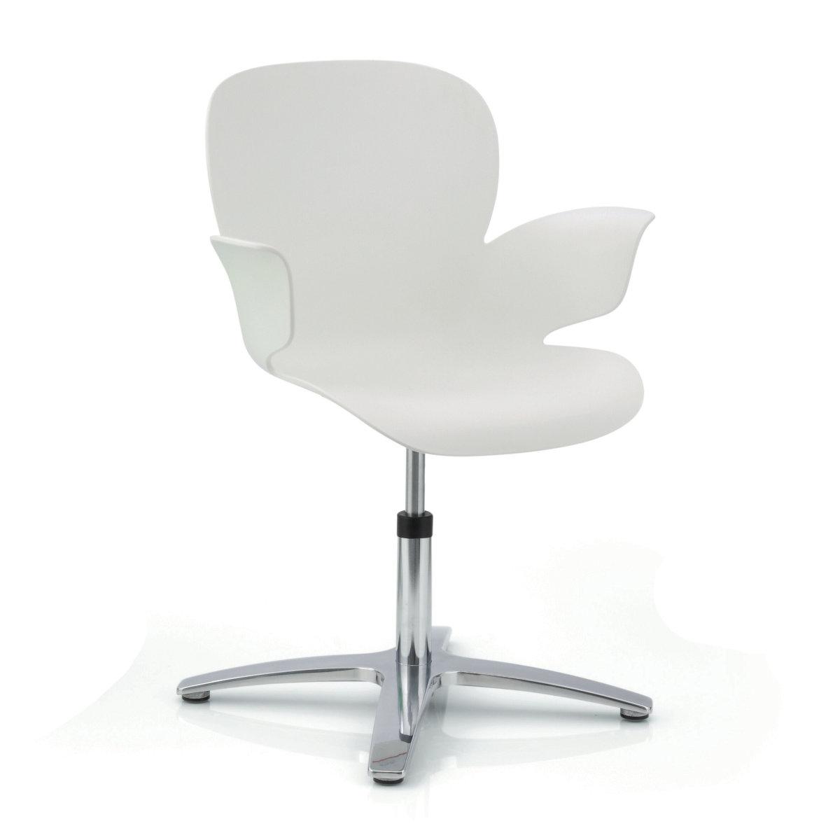 K hl calixo design schalenstuhl drehbar auf gleitern for Design schalenstuhl