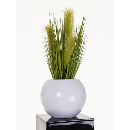CLARISS Pflanzkübel rund 25x30 weiß hochglanz – Lüster & Laster
