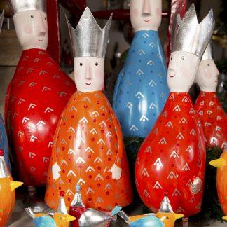 Dekofigur KINGS ARTHUR Pape rot H 38 cmDekofigur KINGS ARTHUR PAPE rot | blau | orange H 38 cm