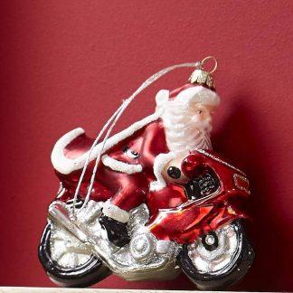 Glashänger SANTA AUF Motorrad