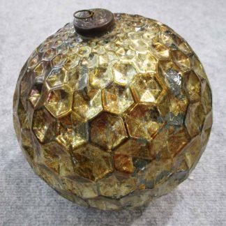 Glaskugel GOLD ANTIK ø 12,5 cm