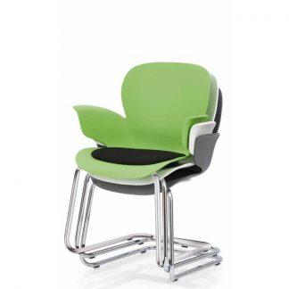 Köhl CALIXO® Design-Schalenstuhl mit Sitzpolster Freischwinger