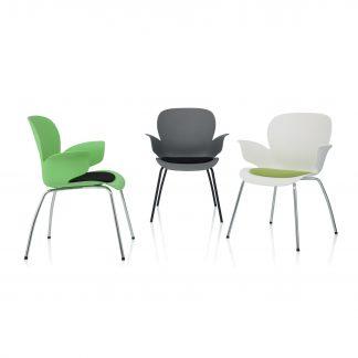 Köhl CALIXO® Design-Schalenstuhl  mit Sitzpolster