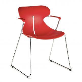Köhl DESIRO® DOT Design Schalenstuhl mit Armlehne rot