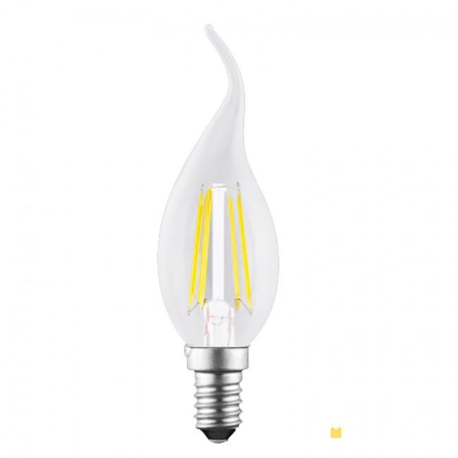 LED Windstoßkerze, E14, 4Watt, klar