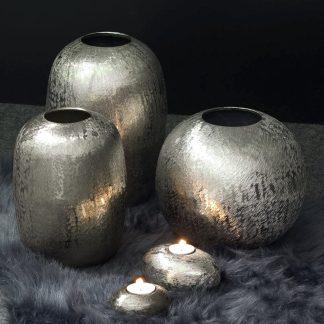 Vase BRITTA Edzard silber | brüniert H 21 | 23 | 28 cm