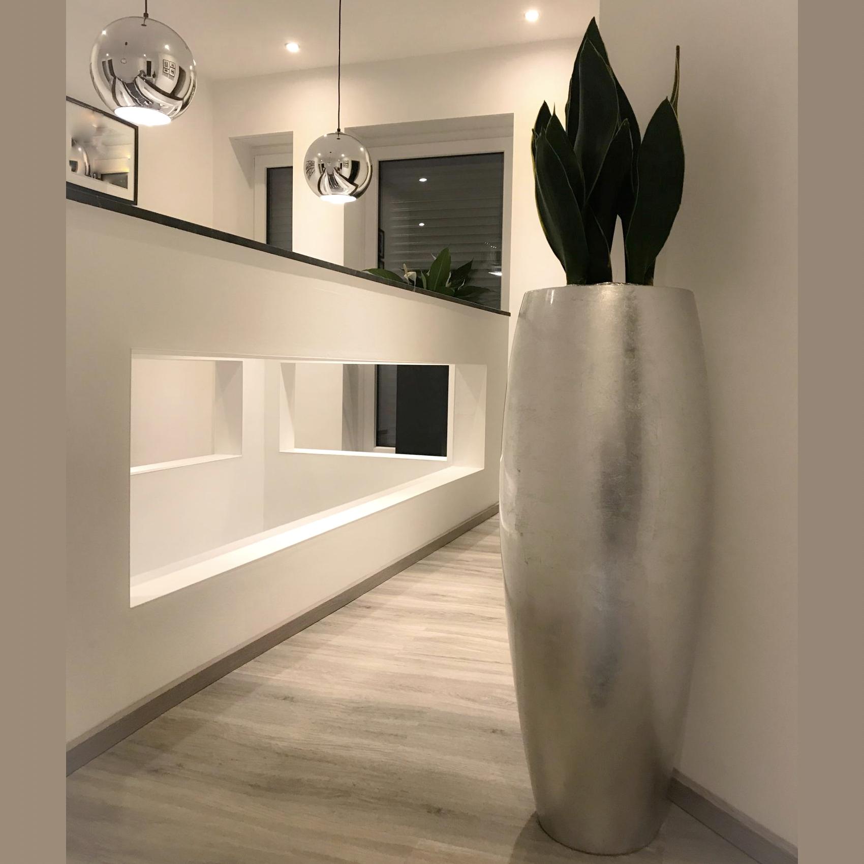 bodenvase silber 100 cm. Black Bedroom Furniture Sets. Home Design Ideas