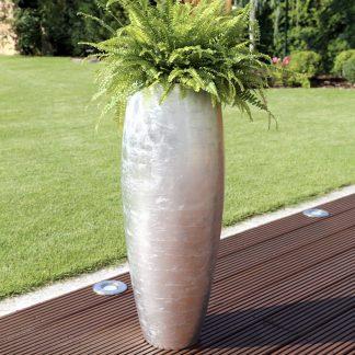Bodenvase CARA Hochglanz silber H 80 | 100 cm