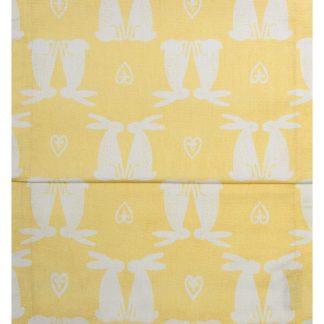 Tischläufer HASENPAAR Magma gelb 40x145