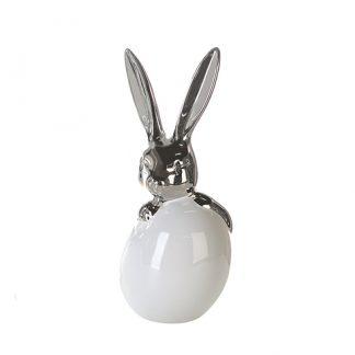 HARDY Osterhase mit Ei aus Porzellan