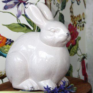 Hase Lothar Keramik creme H 27 cm