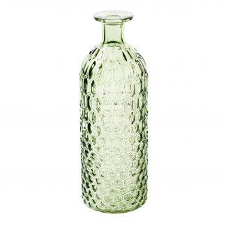MILA Glasflasche mit Wabenmuster