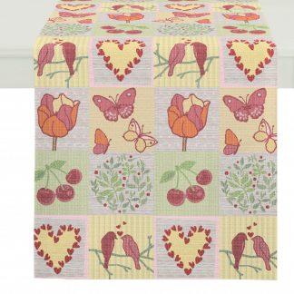 Tischläufer Apelt SPRING FEELINGS Mosaik 44x140
