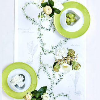Tischläufer Apelt SPRING POETRY Maiglöckchen Herz 40x140