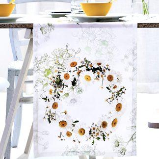 Tischläufer Apelt SPRINGTIME Margeritenkranz 40x135