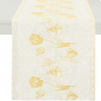 Tischläufer Apelt WILD TULIP gelb 48x140