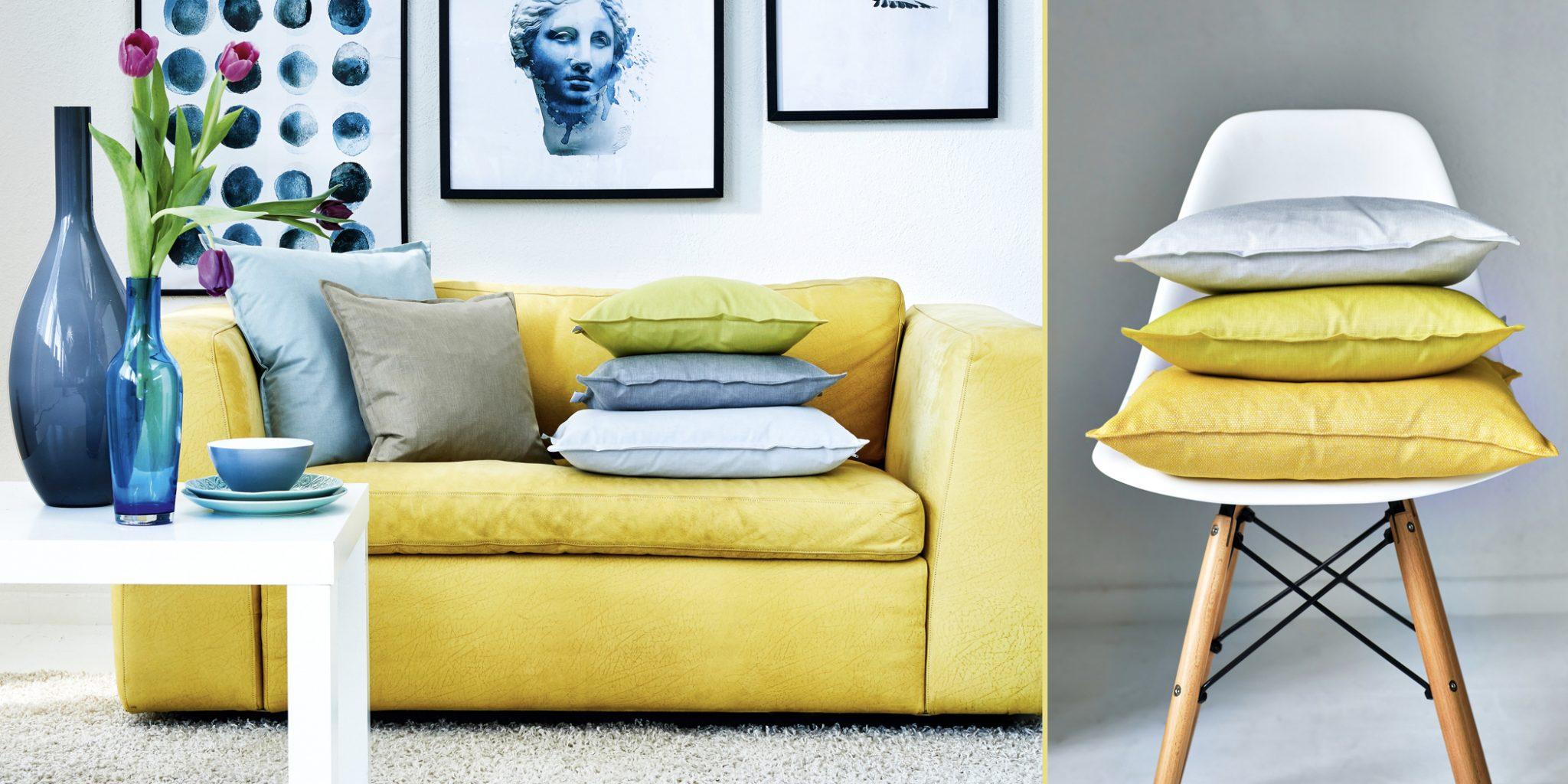 Kissen im Loft Style - Unis & geometrische Muster