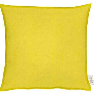Dekokissen Apelt ALASKA gelb mit Stehsaum 40x40