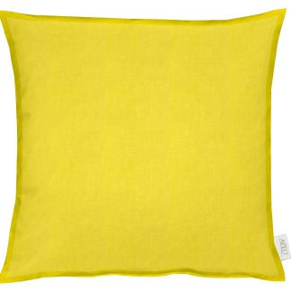 Kissen Apelt ALASKA gelb mit Stehsaum 50x50 cm