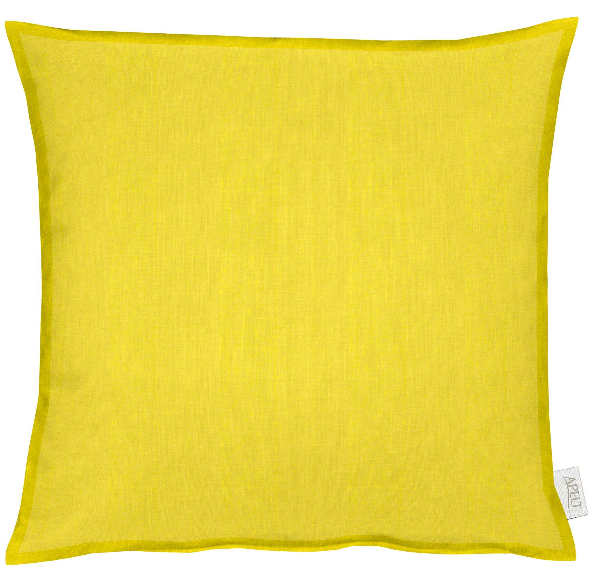 Dekokissen Apelt ALASKA gelb mit Stehsaum 50x50