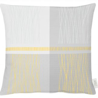 Dekokissen Apelt COMO grau-gelb 50x50