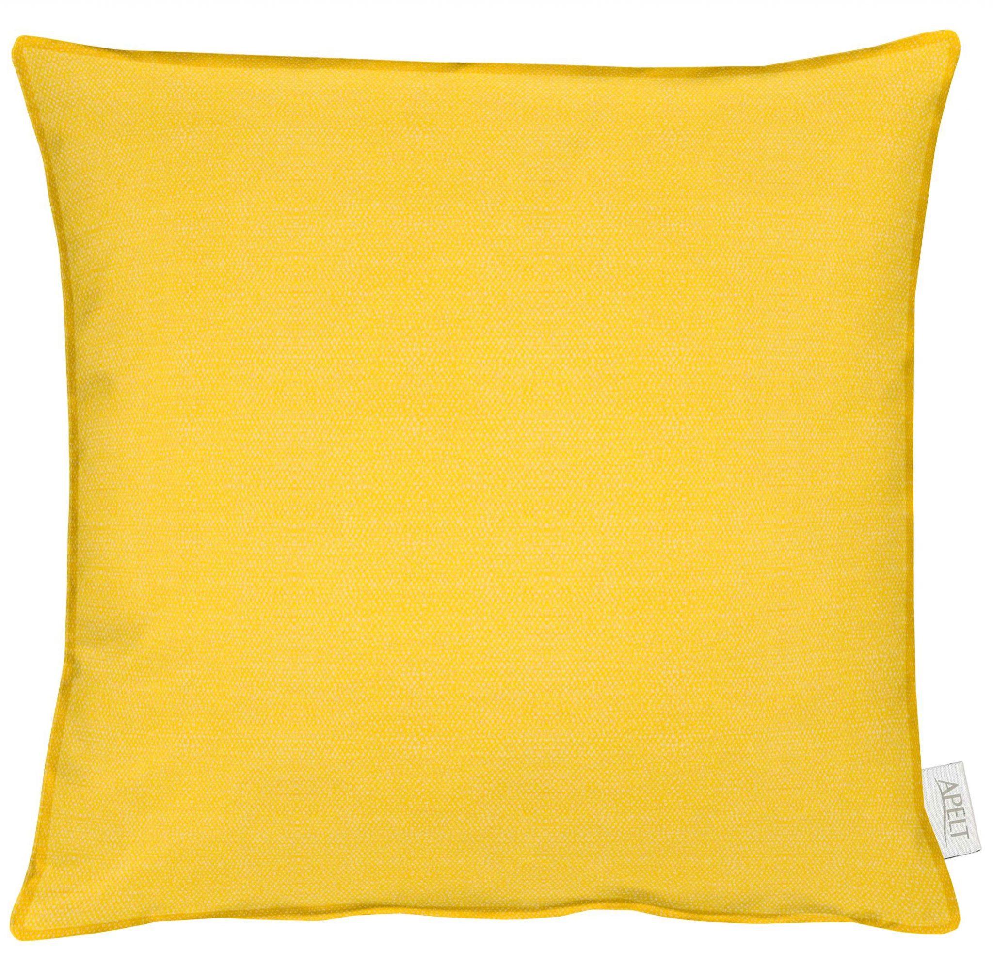 Kissen Apelt MORRIS mit Stehsaum gelb 45x45