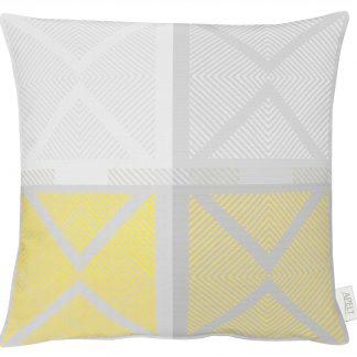 Kissen Apelt VERONA gelb grau 50x50