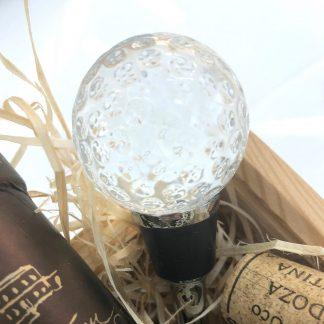 Flaschenverschluss GOLF Edzard Murano-Glas