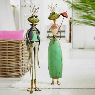 ELISABETH & WOLFGANG  Froschpaar H 75/78 cm