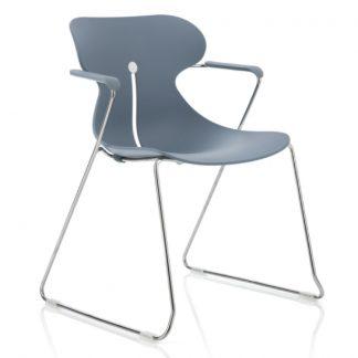 Köhl DESIRO® DOT Design Schalenstuhl mit Armlehnen taubenblau