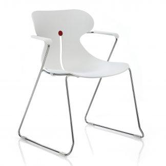 Köhl DESIRO® DOT Design Schalenstuhl mit Armlehnen weiß