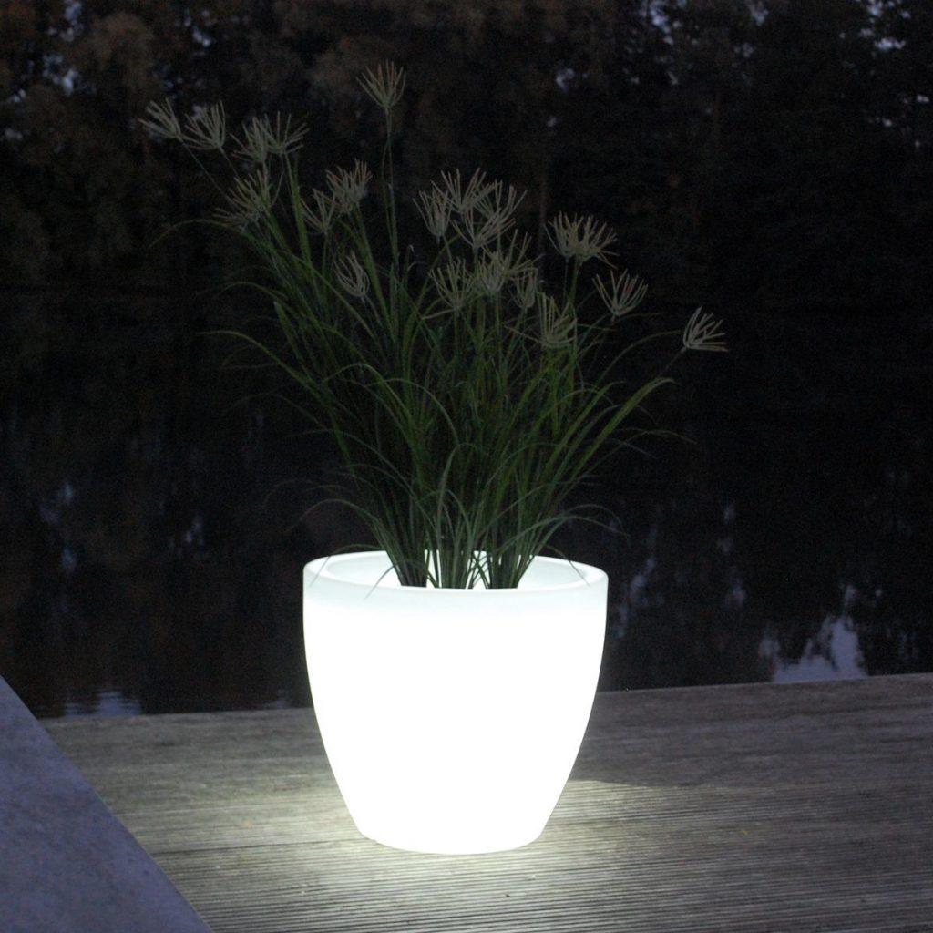 Gartenleuchte CHLOÉ LED Pflanzkübel H 44 cm