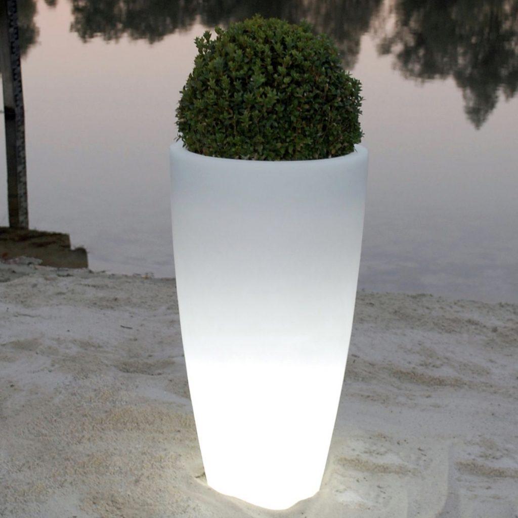 Gartenleuchte CRYSTAL LED Bodenvase H 80 cm