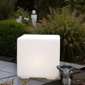 Gartenleuchte ATHENA LED Sitz Würfel H 40 cm