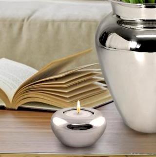 Teelichtleuchter Kenala Edzard Versilbert 2
