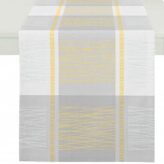 Tischläufer Apelt COMO grau-gelb